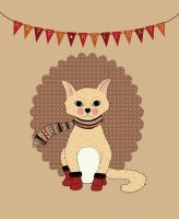 Happy Holidays Cat by cocorie