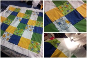 Adventure Time Quilt Blanket by AlwaysForeverHailey