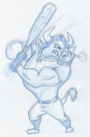 Raging Bull Sketch by Animator-who-Draws