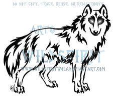 Bold-Eyed Brave Shewolf Tattoo by WildSpiritWolf