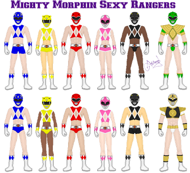 Mighty Morphin Sexy Rangers by Ameyal