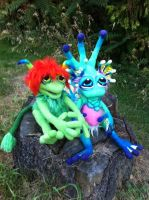 Boober and Sea Monkey by Tanglewood-Thicket