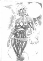 Miss Marvel by Gardenio Lima by Ed-Benes-Studio