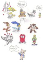 Chibi Looney Tunes by KessieLou
