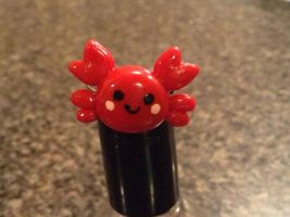Kawaii crab ring by Saloscraftshop