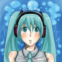 Hatsune Miku - Bubble Tune by Soul-of-the-Sword