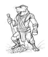 Badger Warrior by Temiree