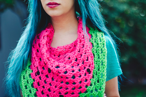 Watermelon Scarf  by candypow