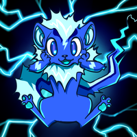 Neopets - Electric Xweetok by nyausi