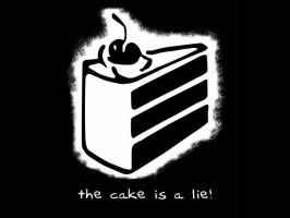 THE CAKE IS A LIE by pxz5pm