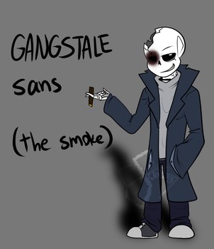 Gangstale leader Sans by Scribbleshadows