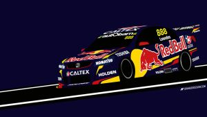 Craig Lowndes Wallpaper - Vector Illustration by GrangerDesign