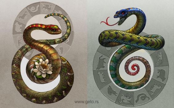 Year of the Snake by Boban-Savic-Geto