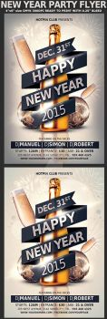 New Years Eve Party Flyer Template by Hotpindesigns