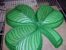 Shamrock Cake by The-EvIl-Plankton