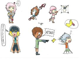 FFXIII Chibis: The Heroes of Cocoon. by SoulDeku