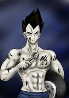 Mechanic vegeta by CrazyAndHyper