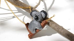 Koala Bear Necklace by polgabice
