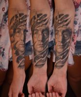 John Lennon Portrait healed by viptattoo