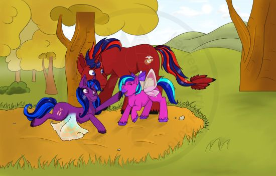 [CM] A Day at the Park by CybertechFoxArt