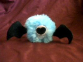 Fluffy Woobat Plush by millylilly14