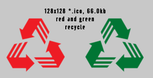 recycle 128x128 2icons by gr8koogly