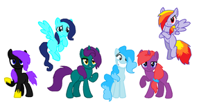 Pony adoptables (Each are 3 points ) by ghostiibear