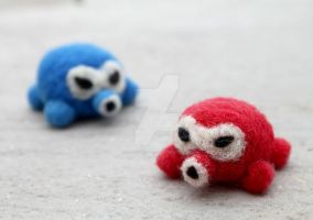 octorok-needle felted by littlemissysg