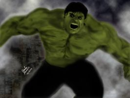 The Incredible Hulk by King-Arsalan-Monawar