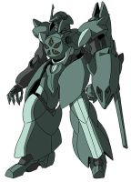 ovv-a Baqto (mobile suit mode) by unoservix