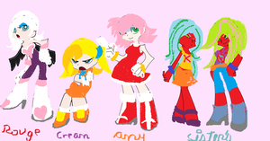 rouge,amy y cream version pswg by nails1236