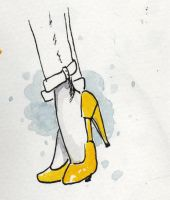 Yellow Pumps by mairimart