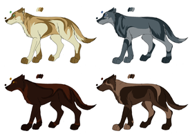 Point adopt - Canines 4 by Kaeda-adoptables