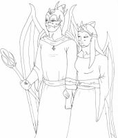 King Isstal and Queen Neyyore by Sepseriis