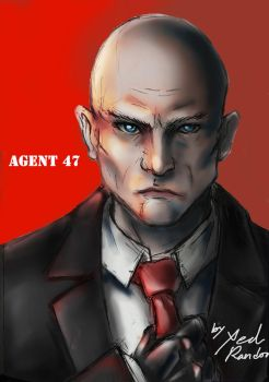 Fanart Portrait 01: Agent 47| Hitman by Xedrandon