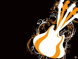 Guitar wallpaper by Blinnie