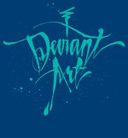 deviant Cursive T-Shirt - Blue by deviantWEAR
