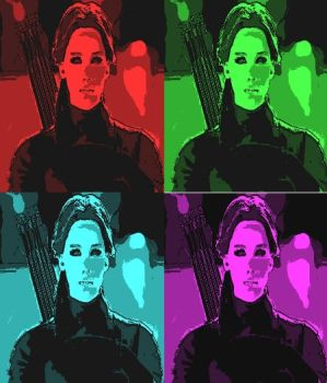 Katniss Everdeen In Pop Art by freddie64