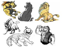 Livestream Sketches 18 by BearlyFeline