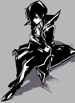 Lelouch black-white by Leloucha