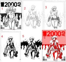 2000AD Cover Process by thisismyboomstick