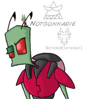 Tallest Red with little Zim by BeyondBirthday1