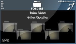 Guitar Folders - Guitar Silhouettes Set 01 by od3f1