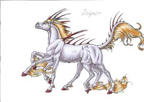 Sleipnir-CreatureHorseColoured by Deathcomes4u