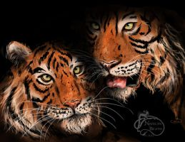 Bengal Tigers by NadilynBeato