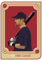 Mike Lowell Baseball Card by i-rembrat