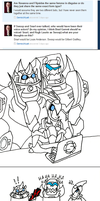 Fun with Formspring: Dinobots by beanchan