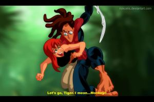 Tarzan and MJ by RickCelis