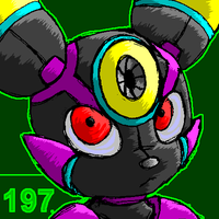 Reploid Umbreon color by HybridProjectAlpha