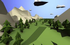 Low Poly Landscape (Updated) by Xelioth
